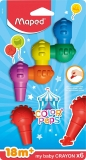 Voskovky MAPED Color Peps Baby, 6 farieb