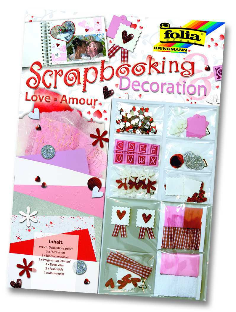 Scrapbooking - set láska