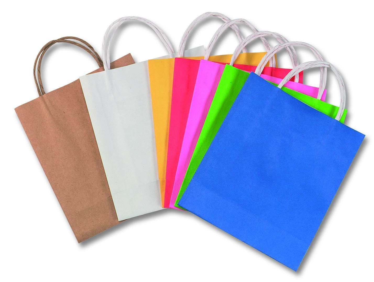 09c59de6b Papierové tašky - 12x5,5x15 cm, 20 ks - biela