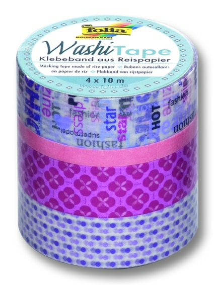 Washi Tape - dekoračná lepiaca páska - 4 ks - Girls Dream