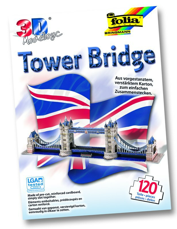 3D model Tower Bridge - Londýn 120 dielikov