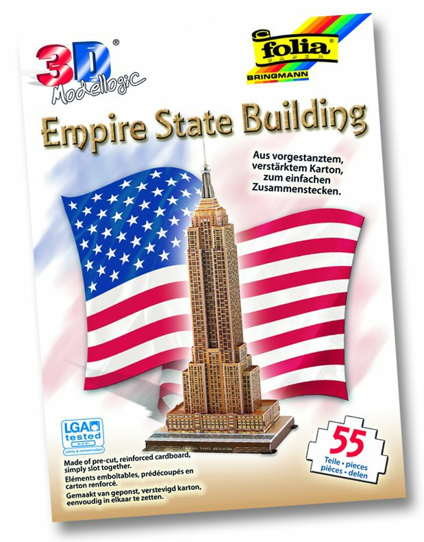3D model mrakodrapu Empire State Building - New York 55 dielikov