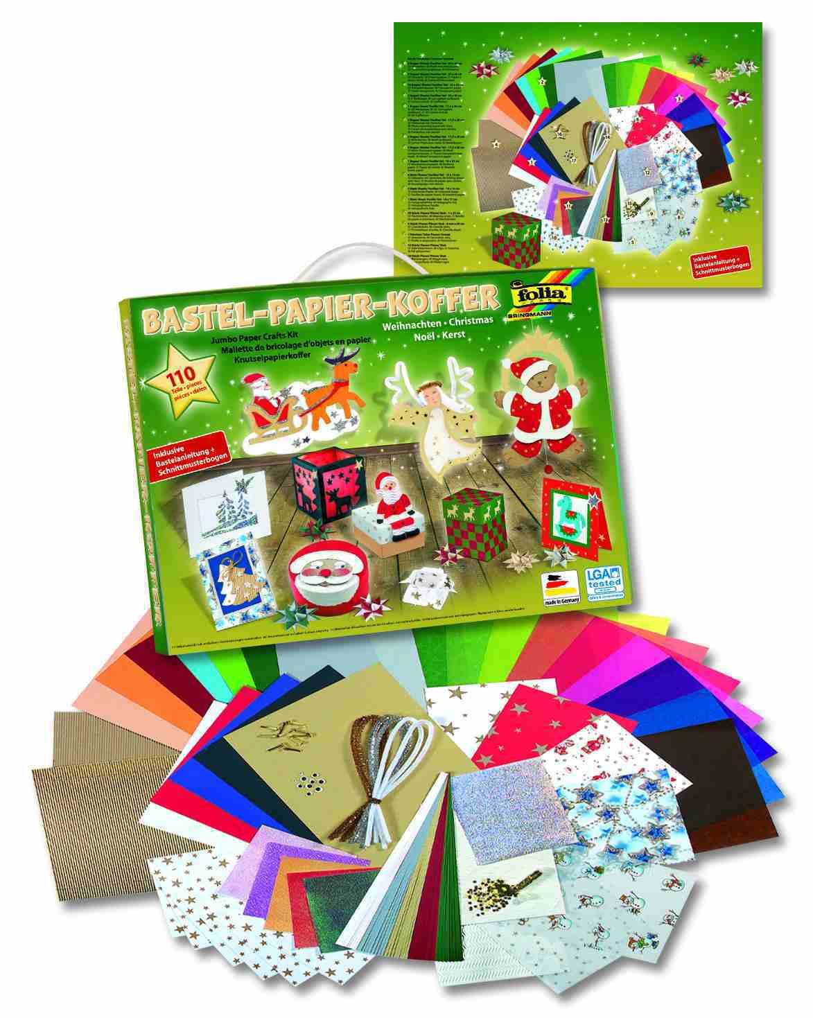 Vianočné kreatívne sada - kufor - 110 dielov 649c6ddce18