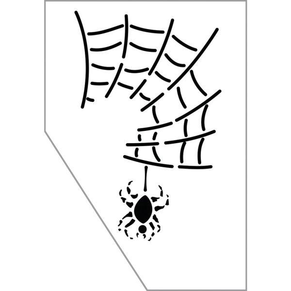 RAYHER Paint-me šablóna na tvár - pavúk, 11.5x16.5cm