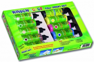 Window Color - profi set - farby na sklo - 10 ks