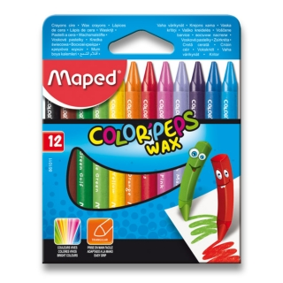 Voskovky MAPED Color Peps Wax, 12 farieb